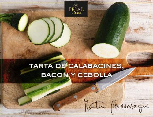 TARTA DE CALABACINES, BACON Y CEBOLLA. RECETA DE MARTÍN BERASATEGUI