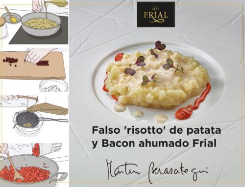FALSO RISOTTO DE PATATA Y BACON AHUMADO FRIAL RECETA DE MARTÍN BERASATEGUI